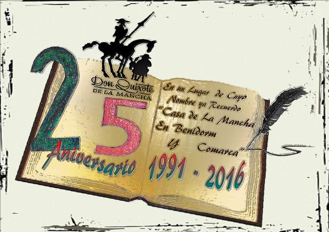 Presentación del logo de nuestro 25 Aniversario al alcalde de Benidorm
