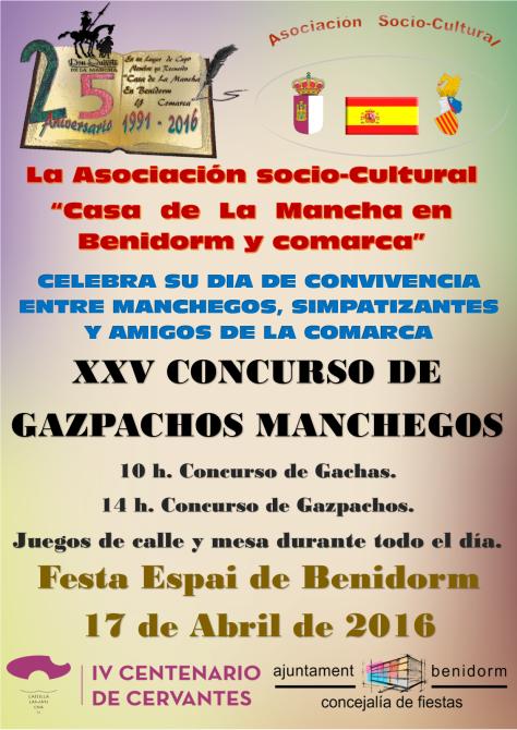 Cartel, Dia de Convivencia, Gazpachos 2016
