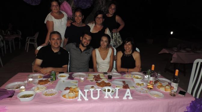 Cena Presentación Reina 2016 Nuria
